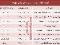 قیمت روز انواع تویوتا در ایران +جدول