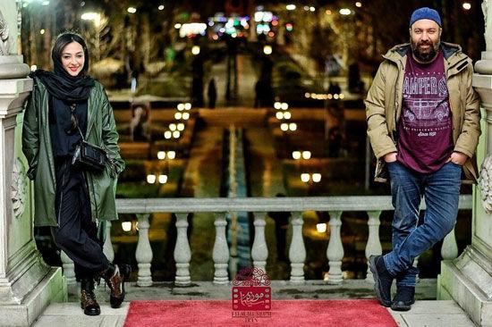 آناهیتا درگاهی کنار علی اوجی در موزه سینما