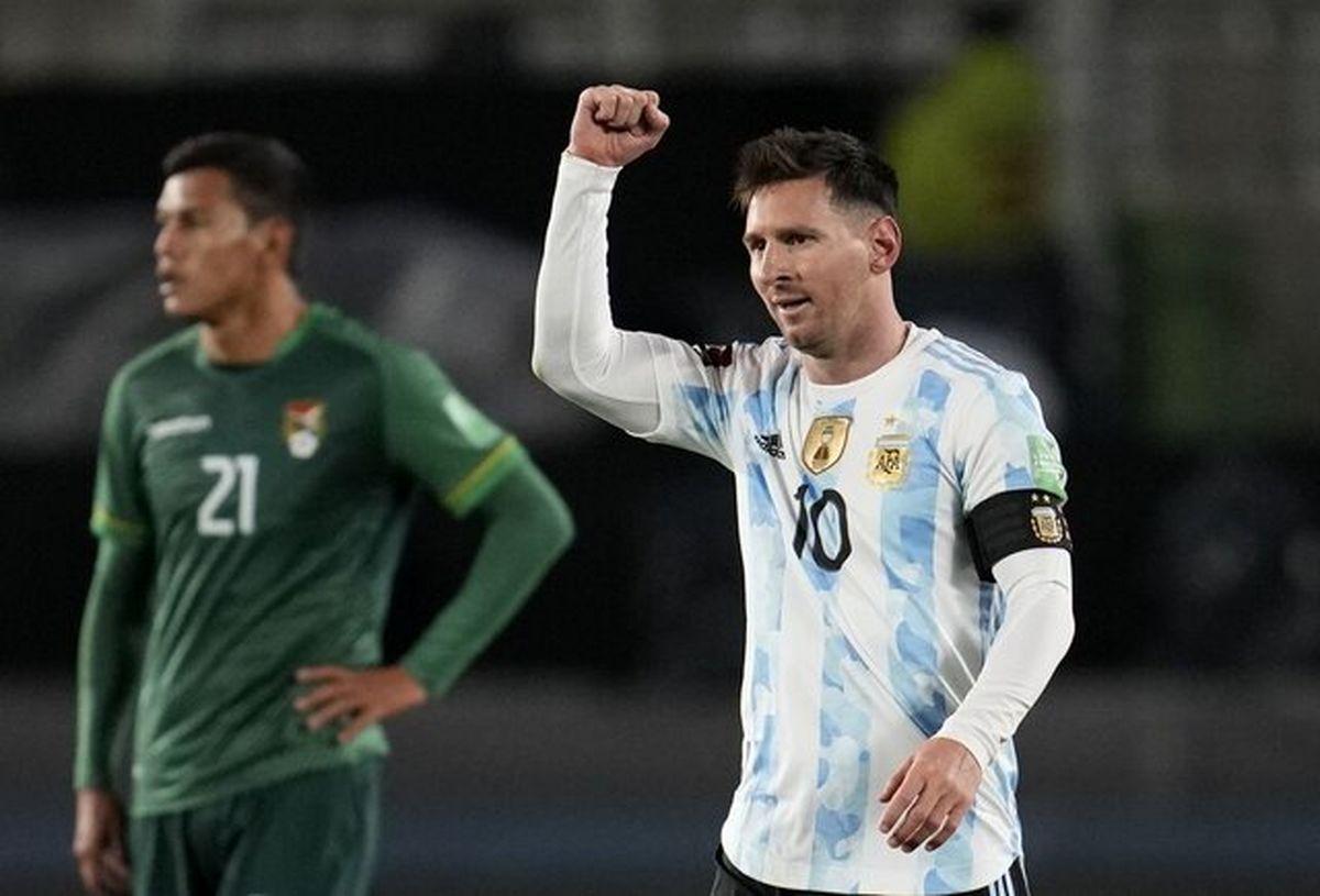 پیروزی آرژانتین با هت تریک مسی