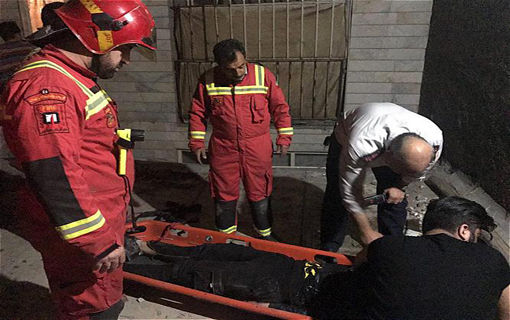 سقوط مرد 38ساله از ساختمان 6طبقه