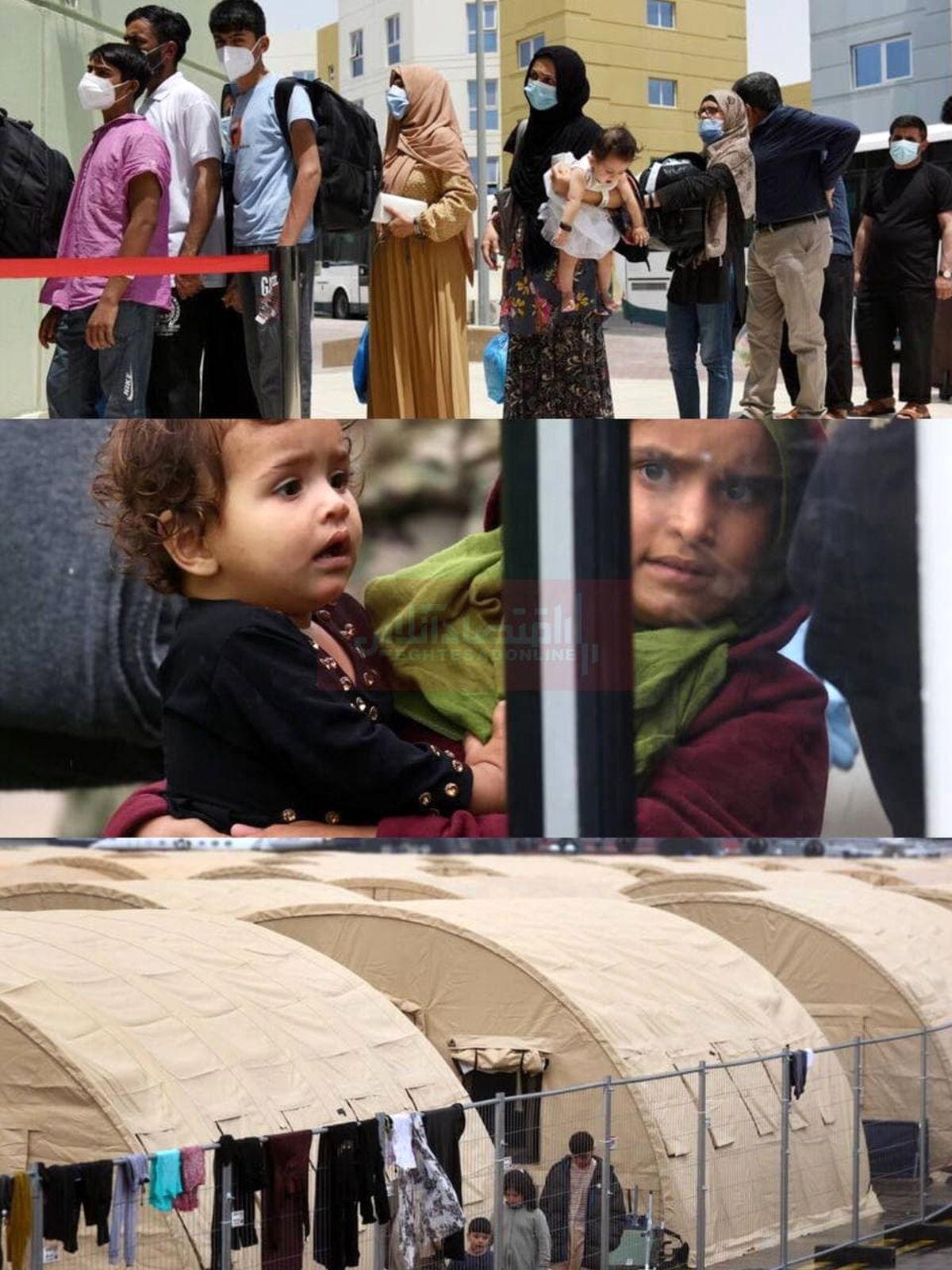 پناهجویان افغان در چادرهای پایگاههای نظامی آمریکا + عکس