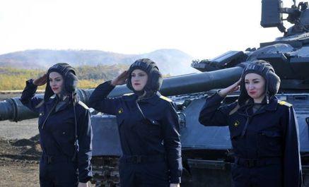 زنان نظامی خدمه تانک ارتش روسیه