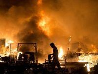 آتشسوزی یک مدرسه روستایی در کلاله