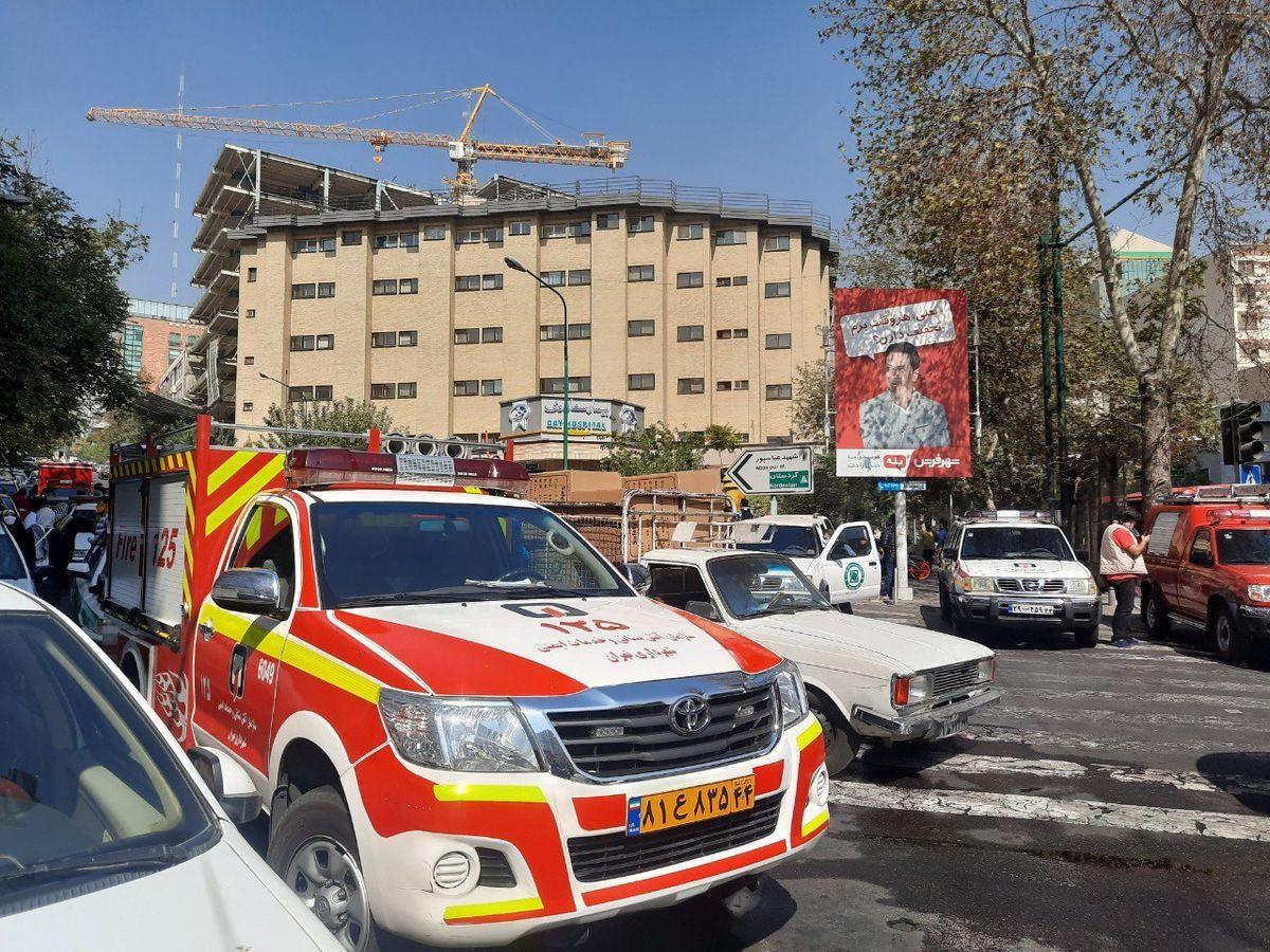 آتشسوزی در بیمارستان «دی» مهار شد