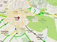 ترافیک نیمه سنگین در ورودیهای تهران +نقشه