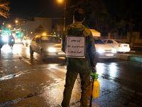 ضدعفونی خودروها در تهران +تصاویر