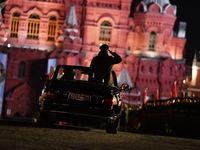 تمرین شبانه رژه پیروزی در مسکو +تصاویر