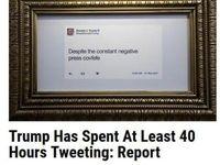ترامپ چند ساعت را وقت توییت نوشتن کرده؟
