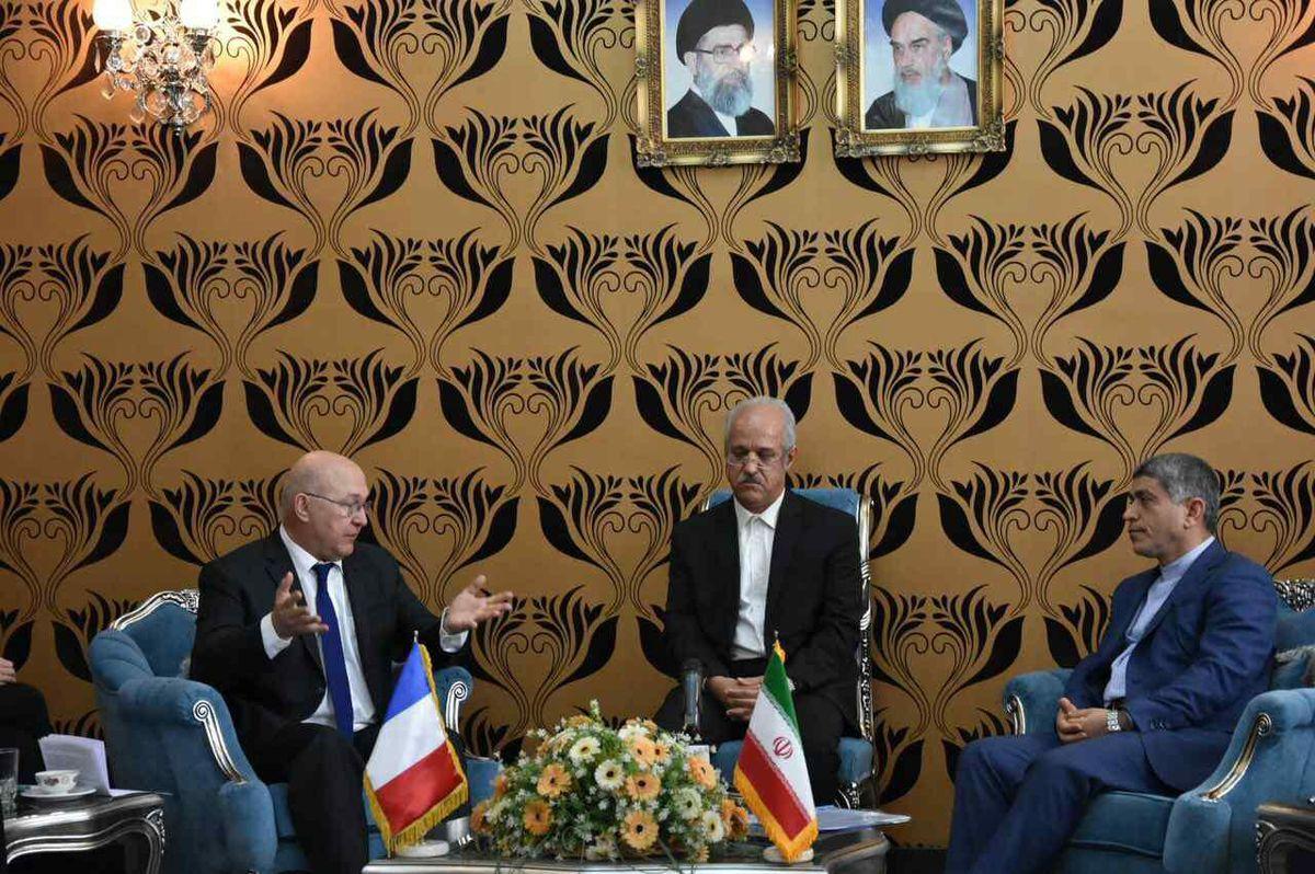 دیدار وزیر اقتصاد فرانسه با علی طیبنیا +عکس