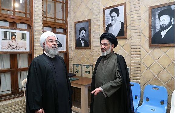 بازدید روحانی از بیت تاریخی امام خمینی(ره) در نجف +عکس