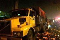 تصادف شدید وانت حامل پرتقال با کامیون +عکس