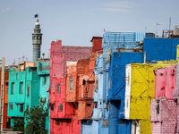 خانههای رنگی خیابان نواب قزوین +تصاویر
