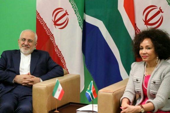 رایزنی برجامی ظریف و وزیر خارجه آفریقای جنوبی