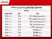 قیمت روز انواع ب ام و +جدول
