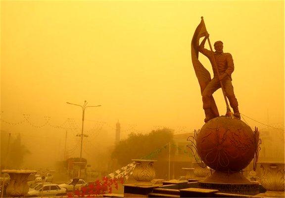 غبار در راه خوزستان