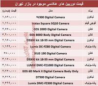 قیمت جدیدترین دوربینهایعکاسی؟ +جدول