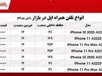 قیمت روز موبایل اپل +جدول