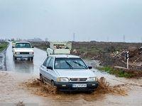 واژگونی چند خودرو در سیل امروز پرند