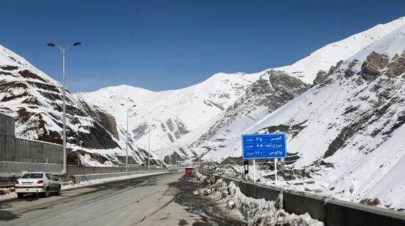 قطعه یک آزادراه تهران - شمال زیر بار ترافیک رفت