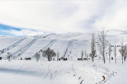 پیست اسکی سپیدان در استان فارس +تصاویر