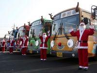 کریسمس به حمل و نقل عمومی رسید! +تصاویر