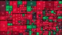 نقشه بورس امروز بر اساس ارزش معاملات/ روز خونین دیگری در بازار