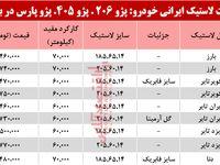 قیمت انواع لاستیک ایرانی خودرو در بازار تهران؟ +جدول