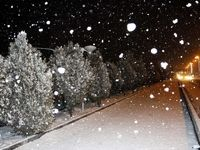 بارش برف و باران آغاز شد