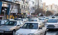ترافیک در خیابانهای تهران بهم گره خورد