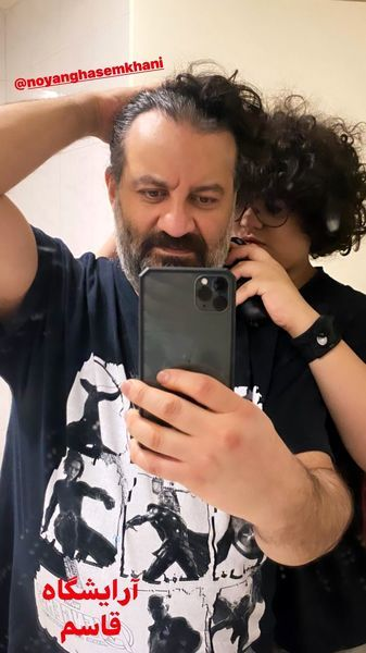 مهراب قاسم خانی و پسرش + عکس