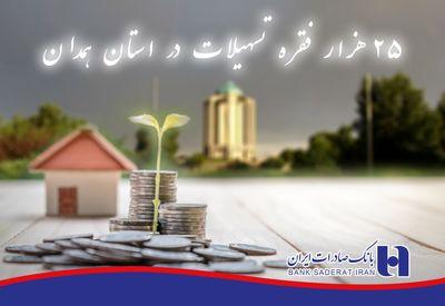 تامین مالی بالغ بر ۲۵هزار فقره تسهیلات بانک صادرات ایران در استان همدان