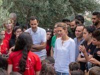 اسد و همسرش در میان مجروحان ارتش سوریه +تصاویر