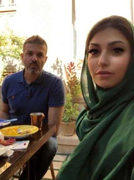 استراماچونی و همسرش در شیراز +عکس