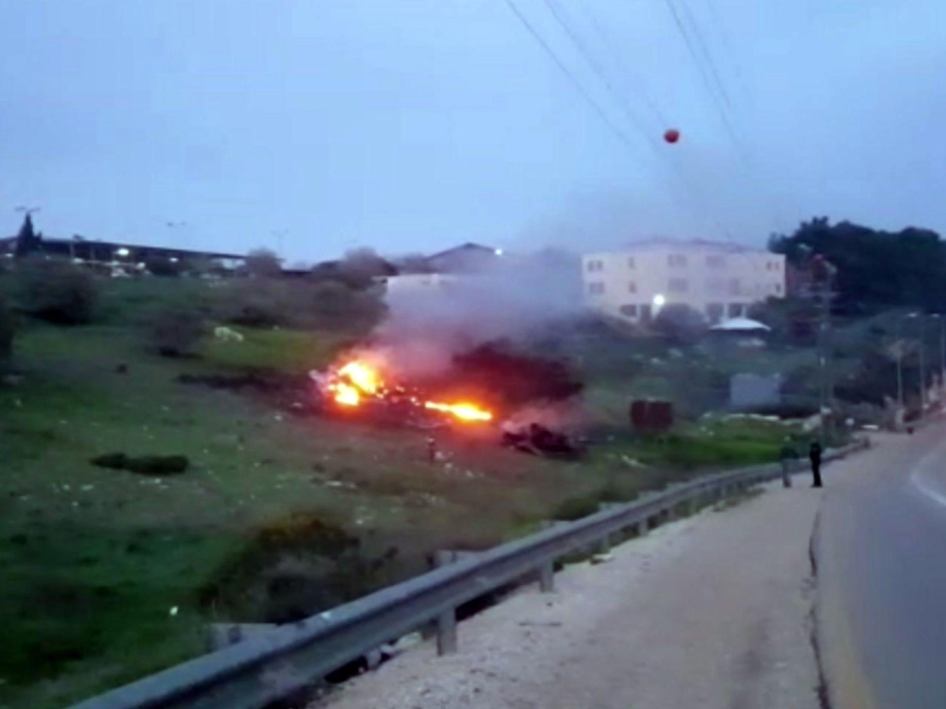 سقوط جنگنده F-16 اسرائیلی در سوریه