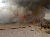 کنترل آتش سوزی در محوطه فازهای پارس جنوبی