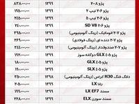 قیمت خودروهای ایران خودرو +جدول
