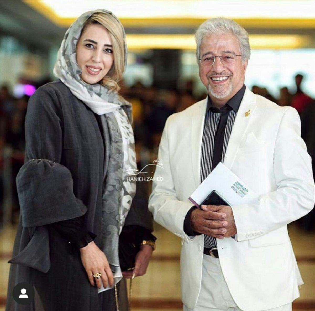 علیرضا خمسه و همسرش +عکس