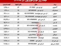 قیمت جدید انواع تلویزیون +جدول