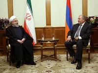 دیدار روحانی با رییس جمهور ارمنستان +تصاویر