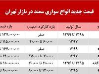 قیمت سمند در بازار تهران +جدول