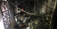 جزییات وقوع آتش سوزی در پاساژی واقع در خیابان جمهوری +عکس