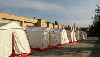 حریق در چادرهای اسکان زلزلهزدگان سرپل ذهاب