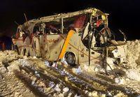 واژگونی اتوبوس فوتسالیستها با یک کشته! +فیلم