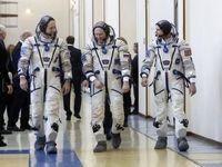 فضانوردان در راه ایستگاه فضایی +تصاویر