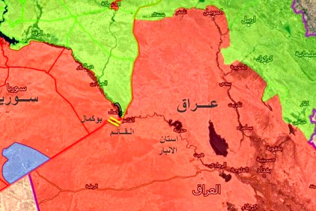 حمله هوایی به یک هدف در مرز عراق و سوریه