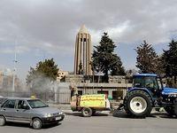 ضدعفونی اماکن عمومی همدان برای جلوگیری ازکرونا +عکس