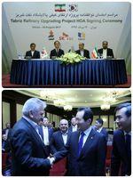 مهمان ویژه امضا قرارداد نفتی ایران و کره جنوبی +عکس