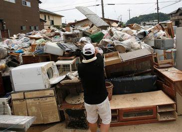 خسارات سیل مرگبار ژاپن با ۲۰۰قربانی +عکس