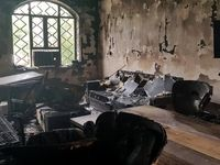 اداره امور مالیاتی بندر امام خمینی به آتش کشیده شد +عکس