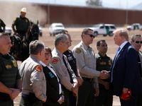 حواشی حضور ترامپ در مرز مکزیک +تصاویر